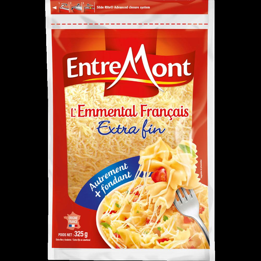 Emmental Français au lait thermisé râpé Extra fin, Entremont (300 g)