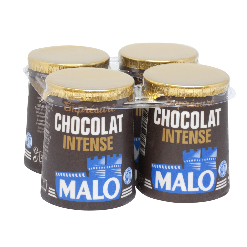 Emprésuré chocolat noir intense, Malo (4 x 125 g)