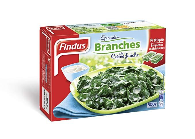 Epinards branches crème, Bonduelle Surgele (500 g)