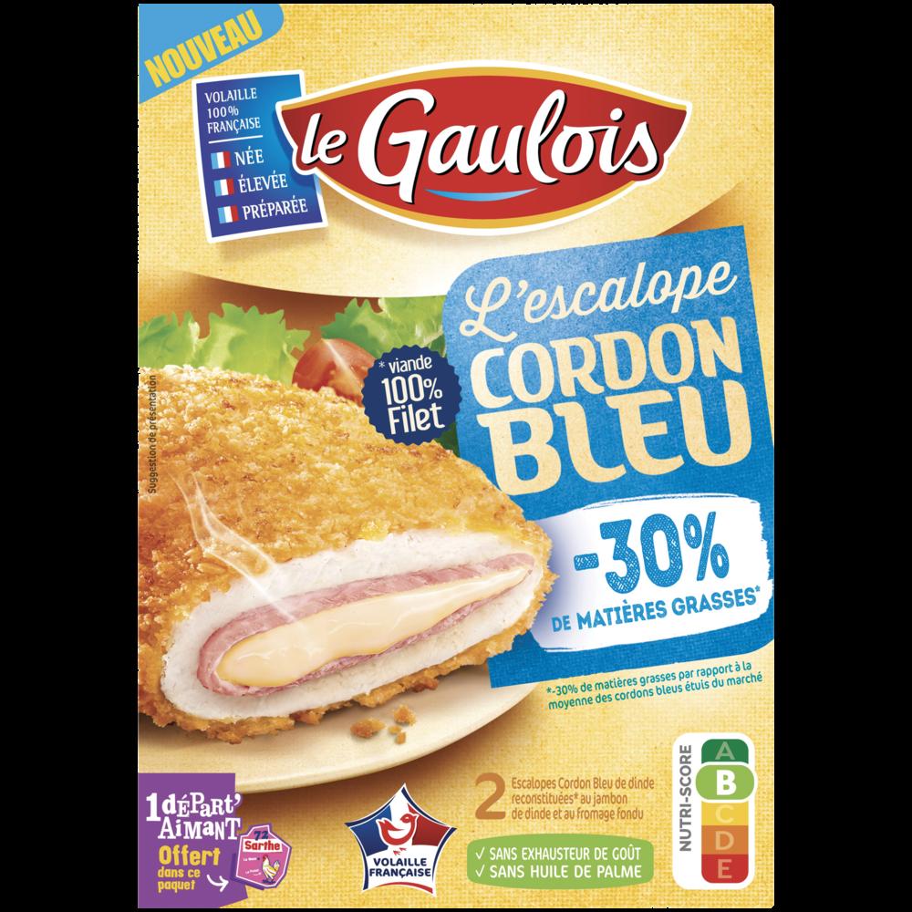 Cordon bleu de dinde -30% de matières grasses, Le Gaulois (x 2, 200 g)
