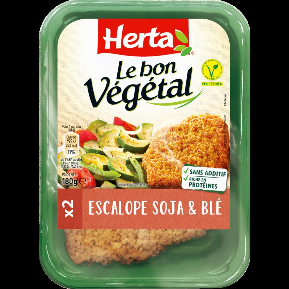 Escalope soja et blé Le Bon Végétal, Herta (2 x 180 g)
