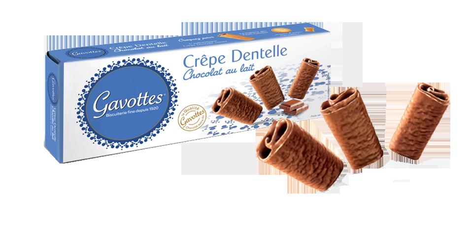 Crèpes dentelles au chocolat au lait, Les Gavottes (90 g)