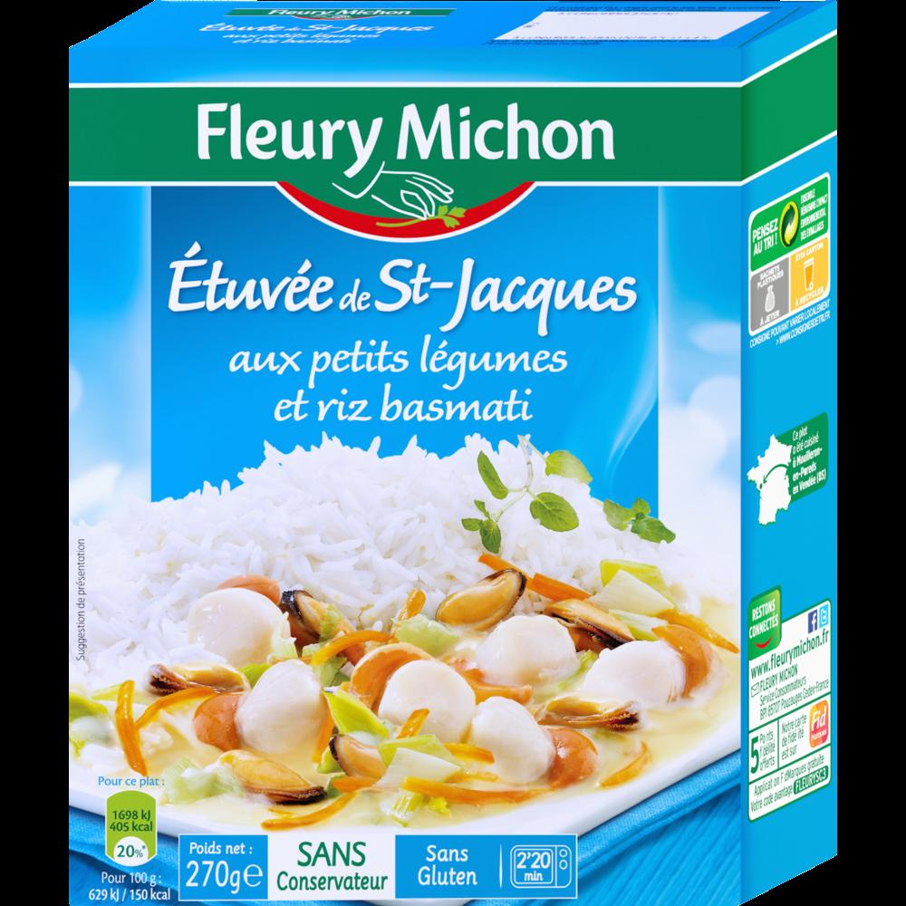 Etuvée Saint Jacques légumes et riz basmati, Fleury Michon (270 g)