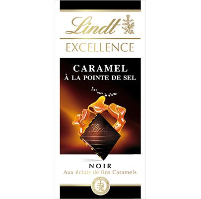 Chocolat noir caramel à la pointe de sel, Lindt (100 g)