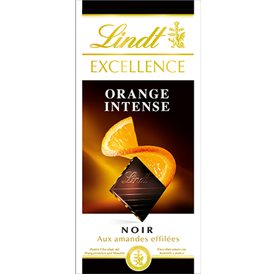 Chocolat noir orange intense, Lindt (100 g)