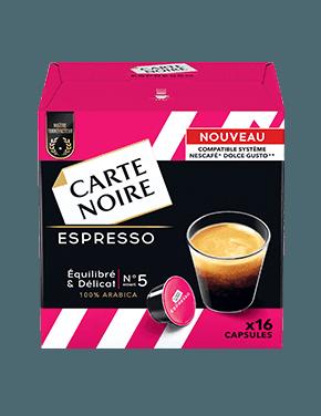 Café capsules Espresso, Carte Noire / compatible dolce gusto (x 16)