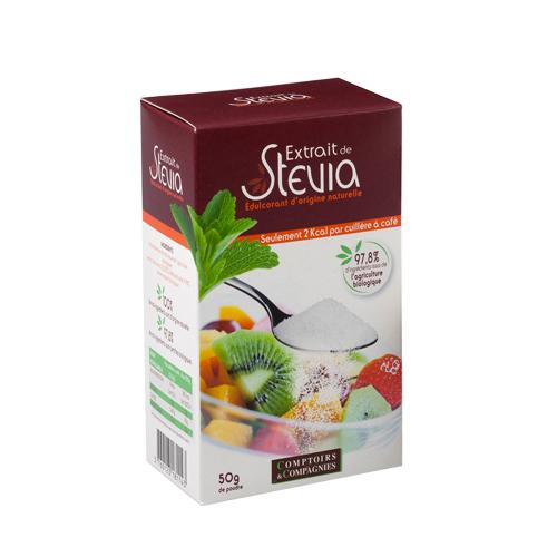 Stevia en poudre Comptoirs et Compagnies (50 g)