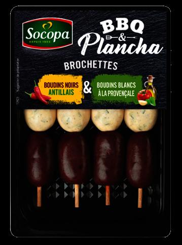Mini brochettes de boudin noir et blanc, Socopa (x 4, 300 g)