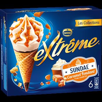 Cône Sundae Caramel, Extreme (x 6)