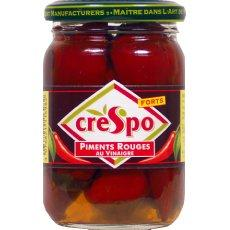 Piments rouges au vinaigre en bocal, Crespo (95 g)