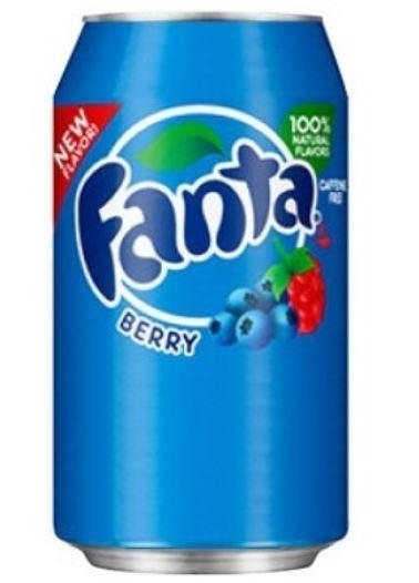 Fanta Berry soda à la framboise et à la myrtille (35.5 cl)
