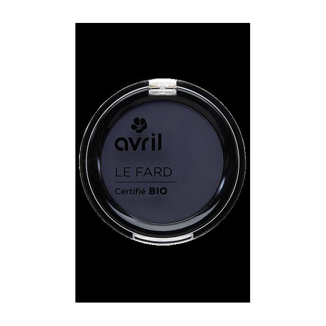 Fard à paupières bleu de minuit irisé certifié BIO, Avril (2,5 g)