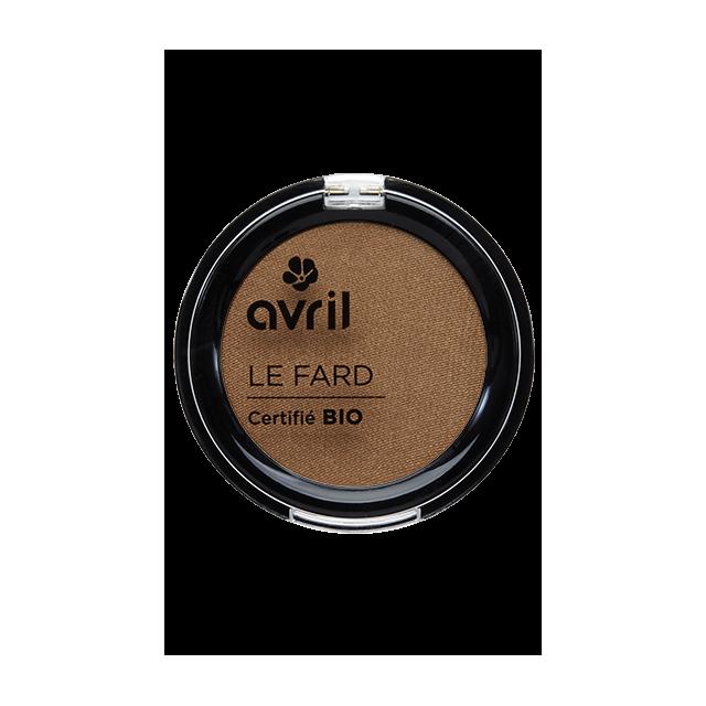 Fard à paupières noisette irisé certifié BIO, Avril (2,5 g)