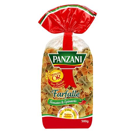 Farfalles aux épinards et à la tomate, Panzani (500 g)