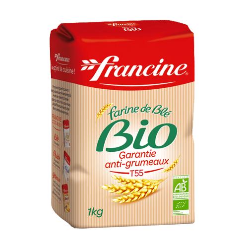 Farine de blé T55 BIO, Francine (1 kg)
