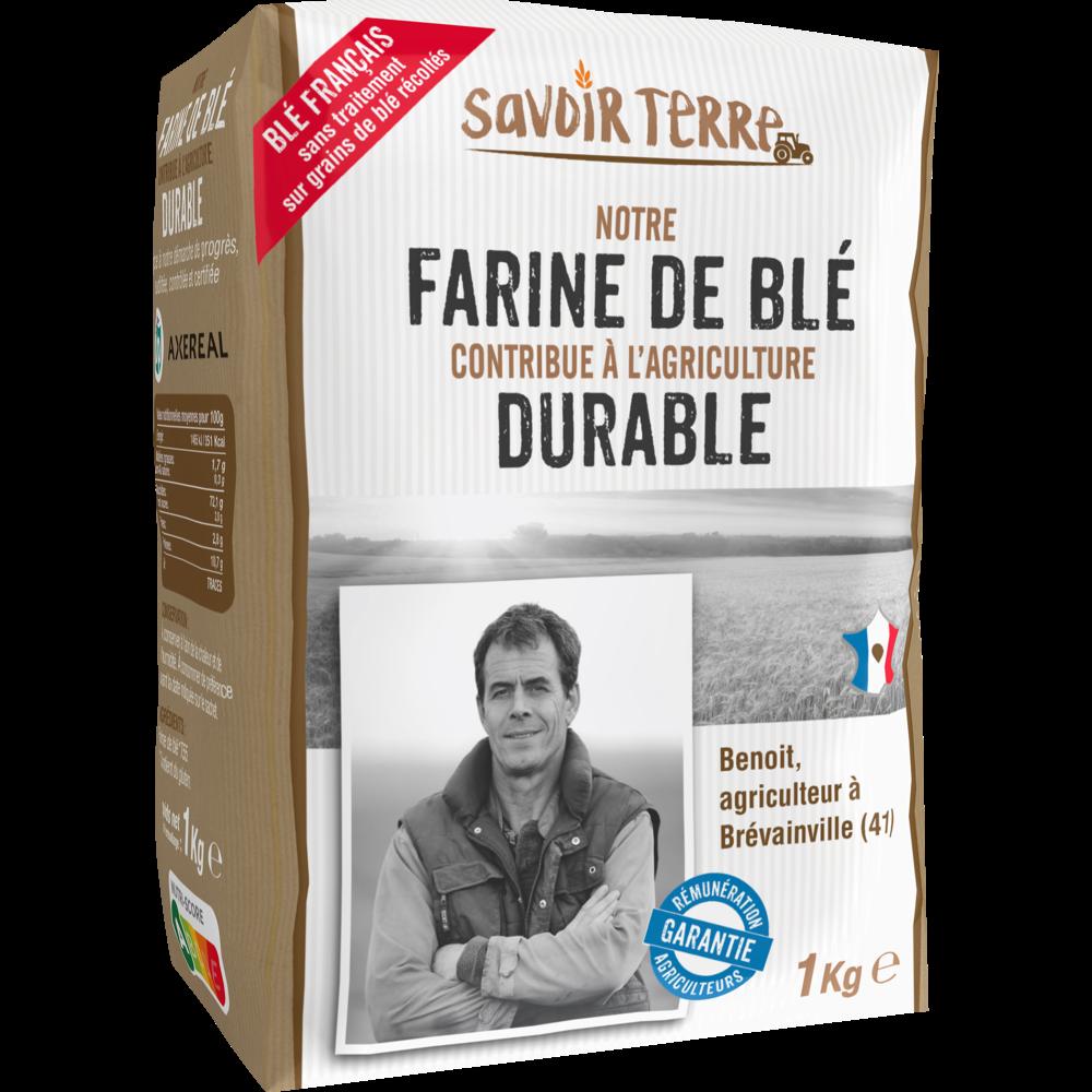 Farine de blé T55, Savoir Terre (1 kg)