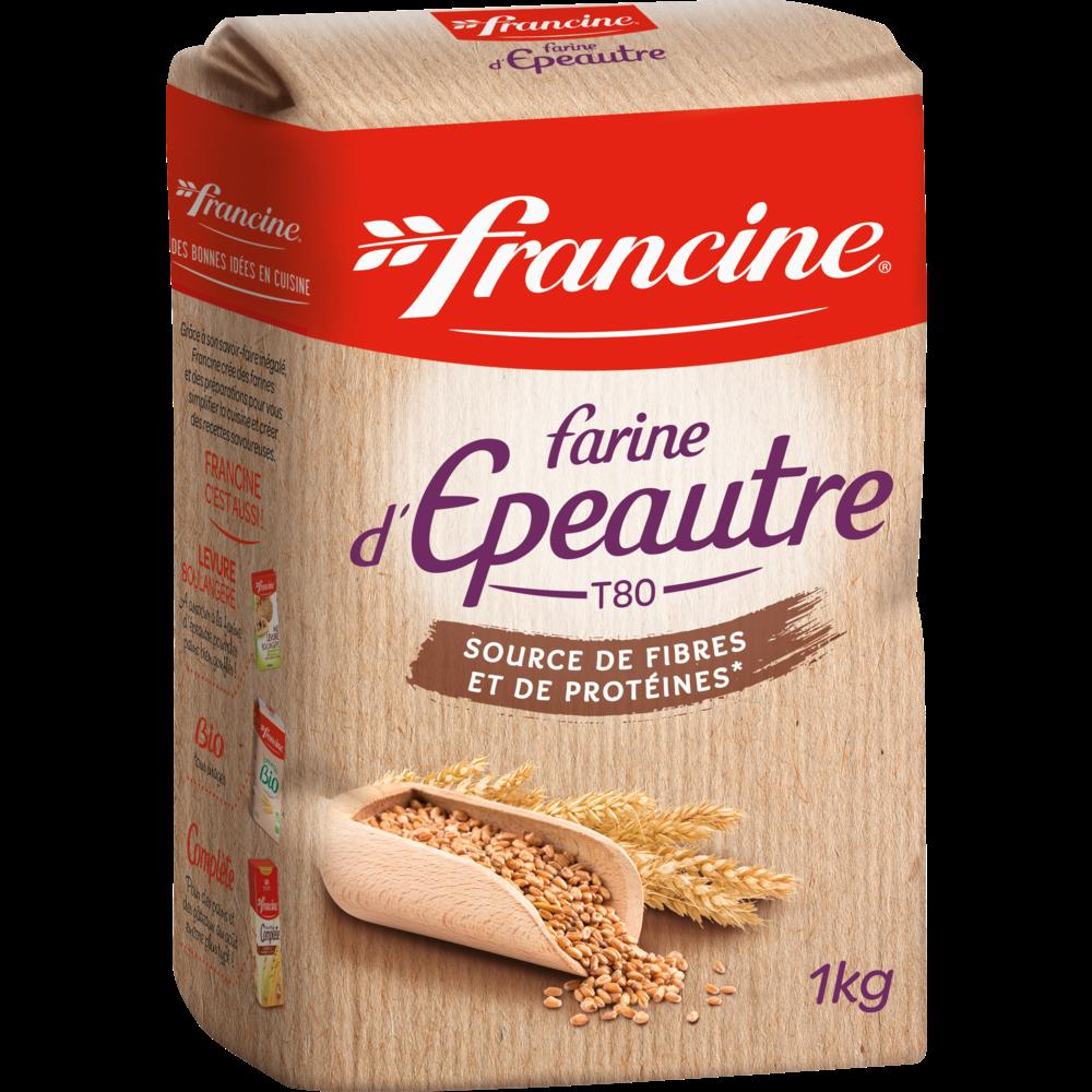 Farine de blé tous usages à l'épeautre, Francine (1 kg)