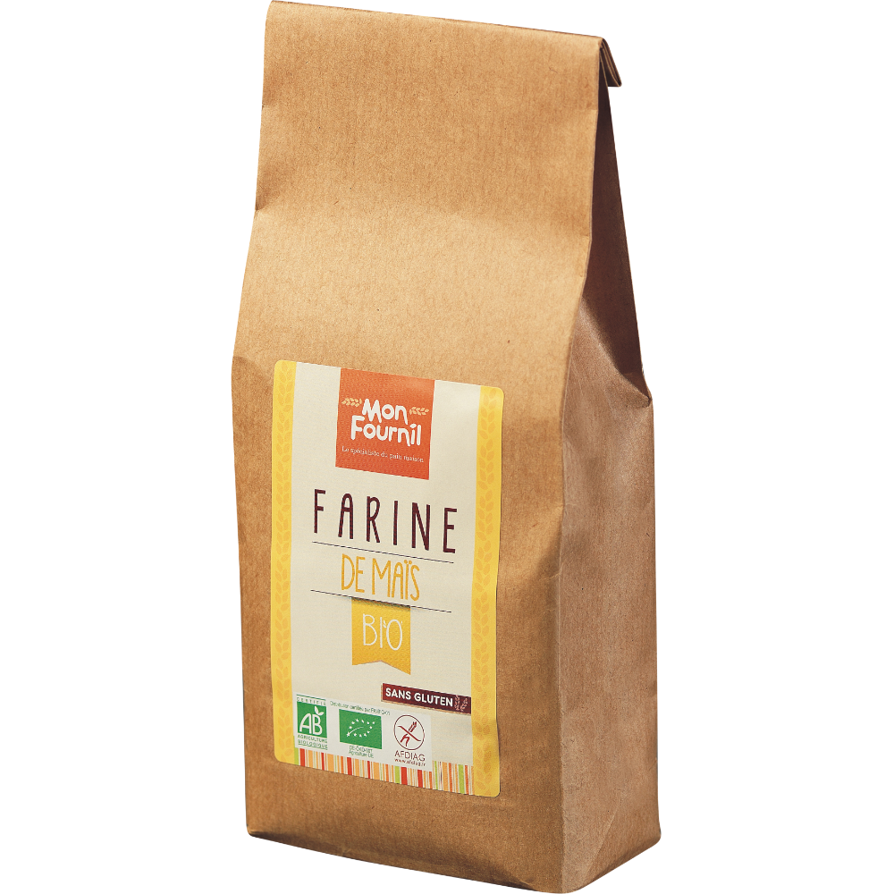 Farine de maïs sans gluten BIO, Mon Fournil (500 g)