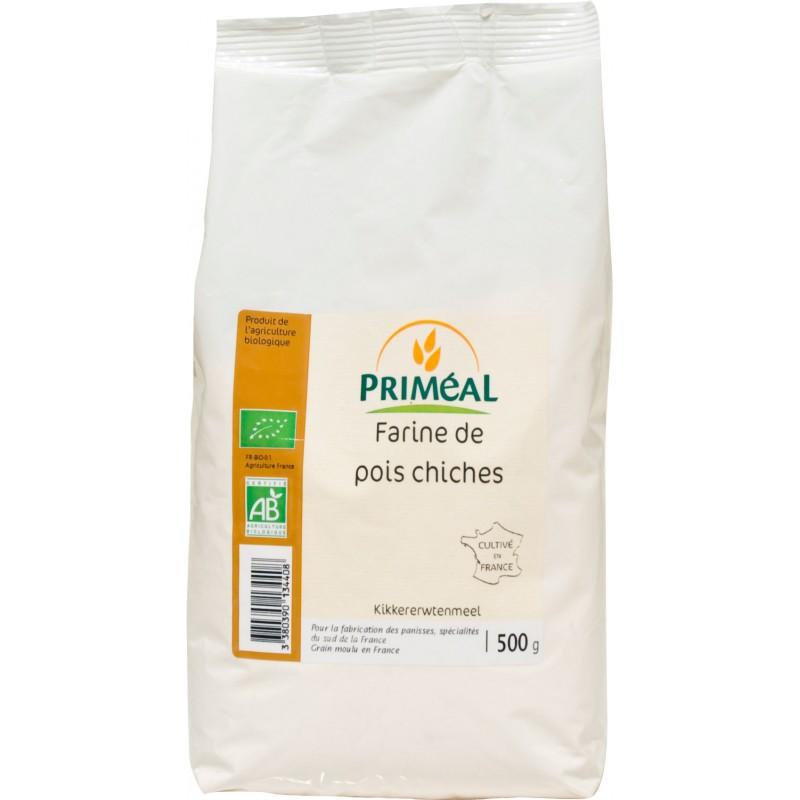 Farine de pois chiche BIO, Priméal (500 g)