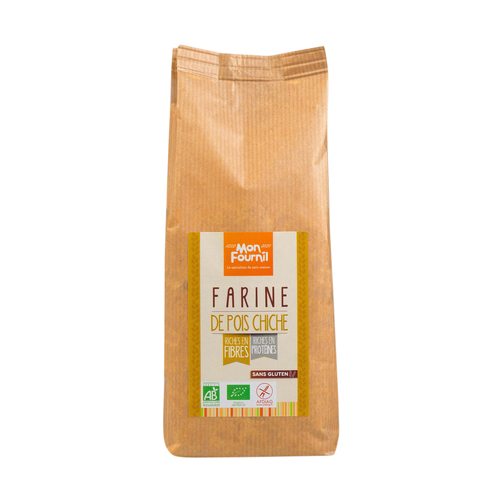 Farine de pois chiche BIO sans gluten, Mon Fournil (500 g)