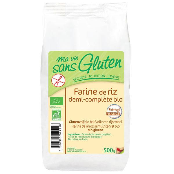 Farine de riz demi-complète BIO, Ma vie sans gluten (500 g)