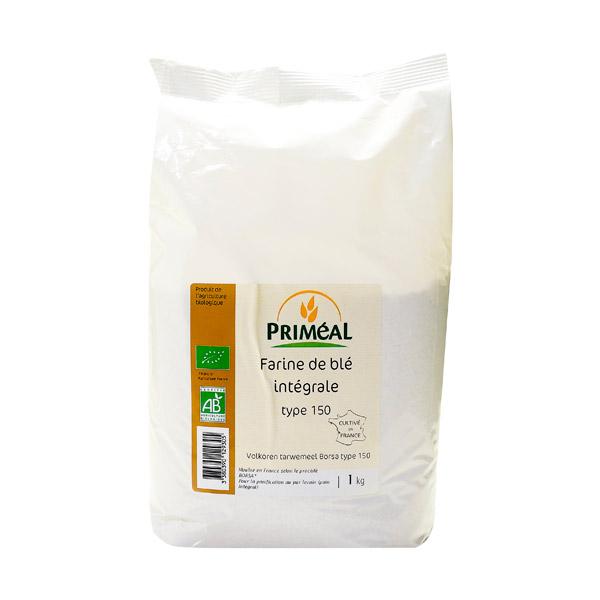 Farine de blé intégrale BIO T150, Priméal (1 kg)