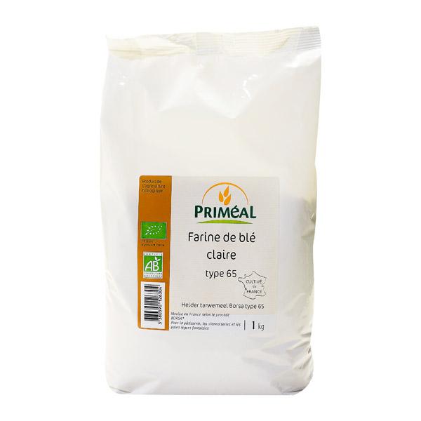 Farine de blé BIO T65, Priméal (1 kg)