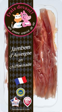 Chiffonnade de jambon d'Auvergne, Frais Devant (80 g)