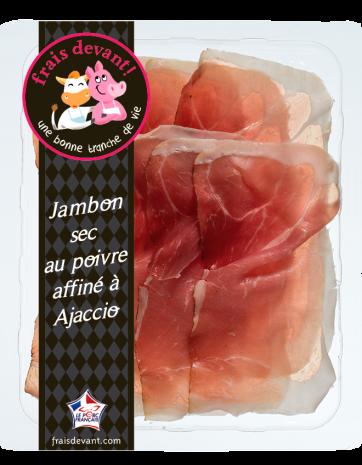 Jambon sec au poivre affiné à Ajaccio, Frais Devant (90 g)