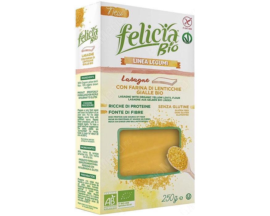 Lasagnes aux lentilles jaunes BIO et sans gluten, Felicia (250 g)