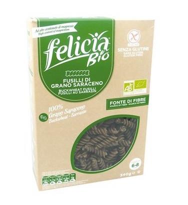 Fusilli au sarrasin BIO et sans gluten, Felicia (340 g)