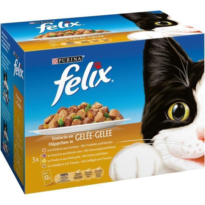 Tendres effilés en gelée pour chat, Félix (12 x 100 g)