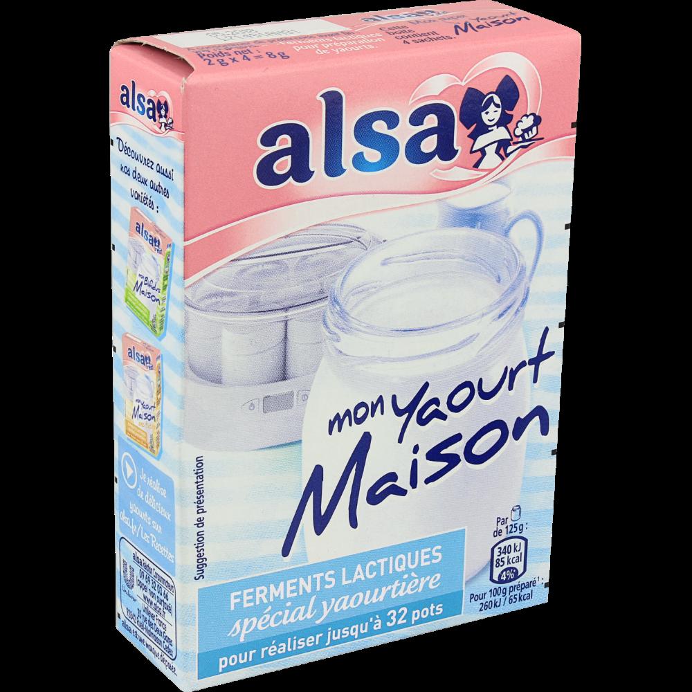 Ferments lactiques pour yaourtière, Alsa (8 g)