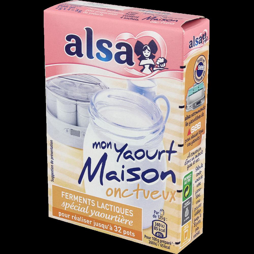 Ferments lactiques onctueux spécial yaourtière, Alsa (8 g)