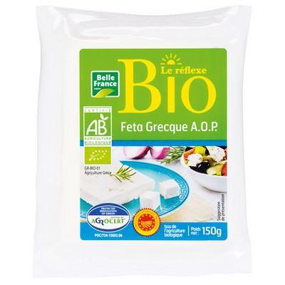 Feta grecque au lait frais de brebis AOP BIO, Belle France (150 g)