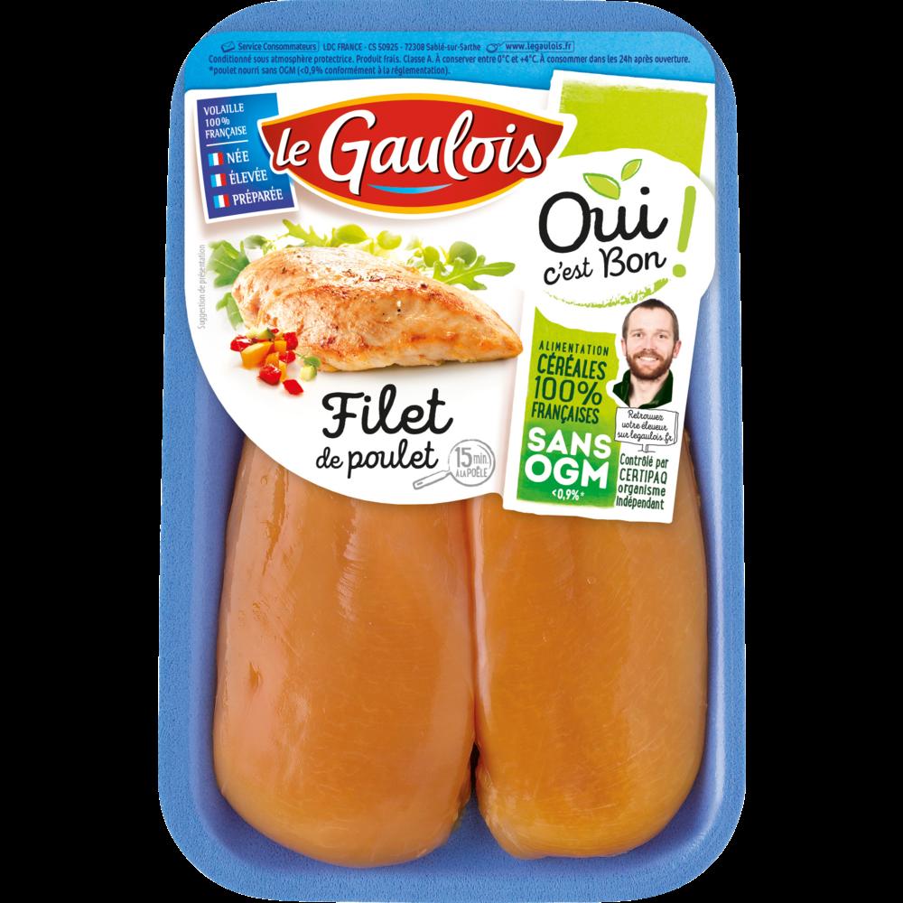 Filets de poulet jaune, Le Gaulois (300 g)