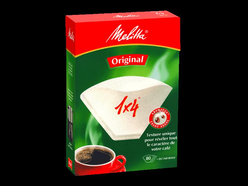 Filtres à café 1 x 4, Melitta (x 40)