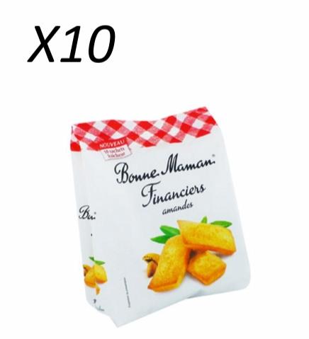 Financiers aux amandes, Bonne Maman (x 10)