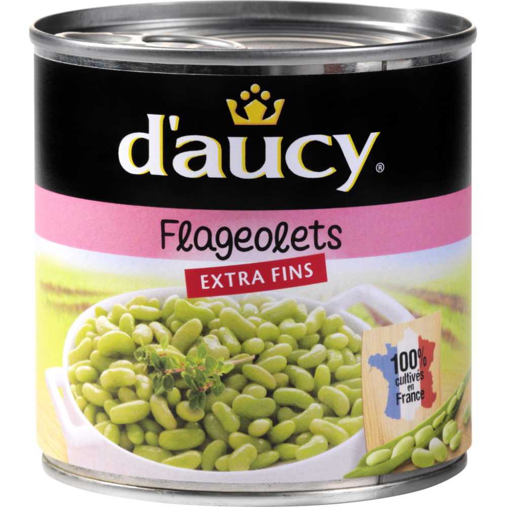 Flageolets extra-fins, D'aucy (265 g)