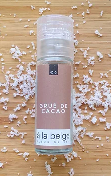Fleur de sel au Grué de Cacao, À La Belge (30 g)