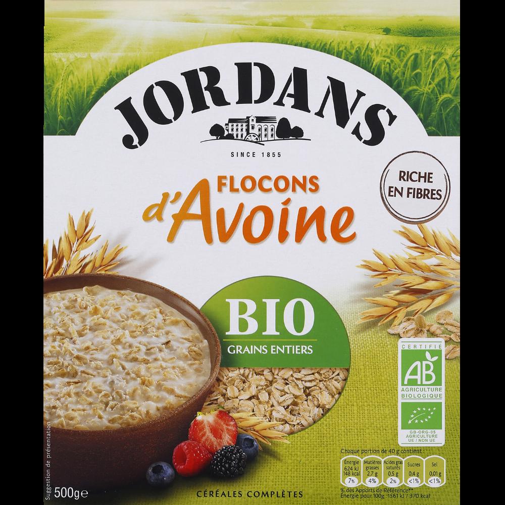 Flocons d'avoine BIO, Jordan's (500 g)