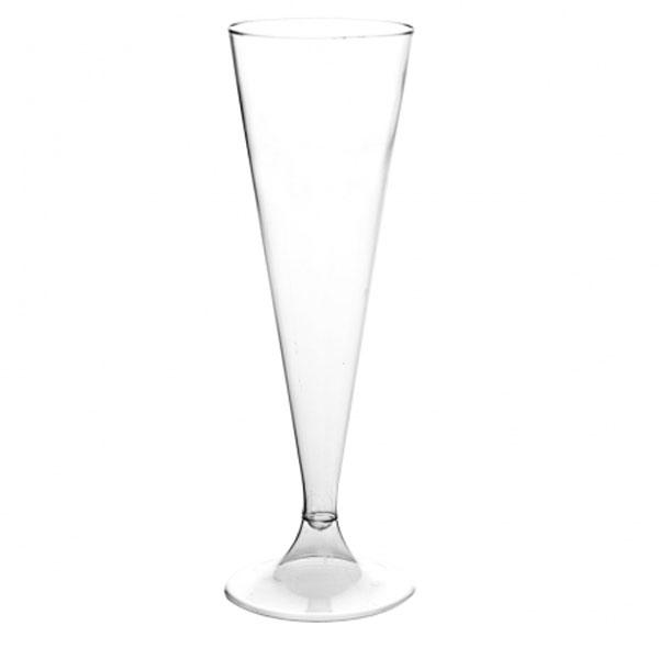 Flûtes à champagne en plastique 13 cl (x 6)