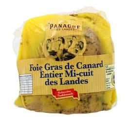 Foie gras de canard entier à l'ancienne demi-lobe Label Rouge, Panache des Landes (environ 250 g)