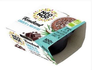 Fondant végétal BIO au chocolat de Sao Tomé/noix de coco sans gluten, Neo Noe (70 g)