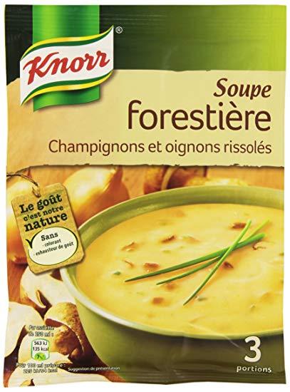 Soupe forestière aux champignons déshydratés, knorr (4 portions)