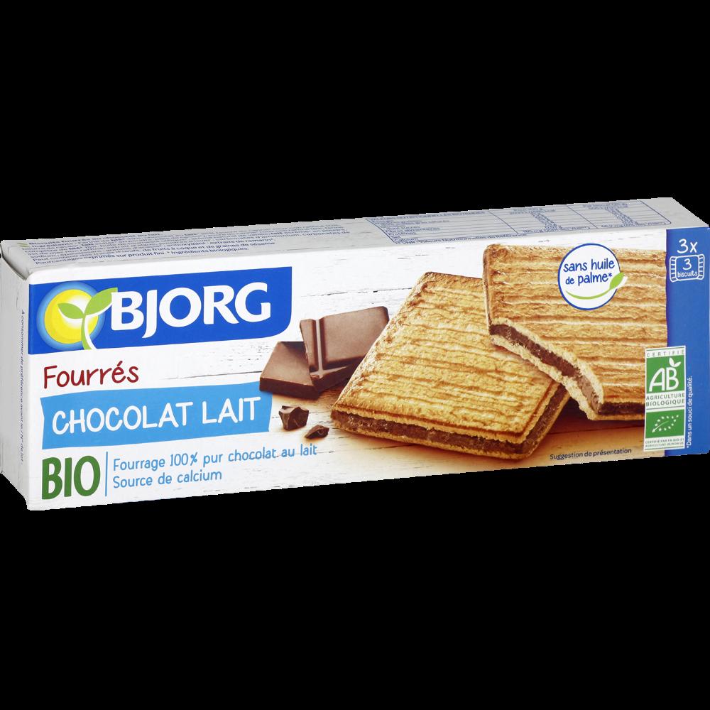 Fourrés chocolat au lait BIO, Bjorg (225 g)