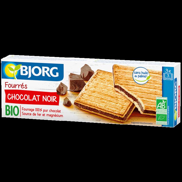 Fourrés Chocolat Noir BIO, Bjorg (225 g)