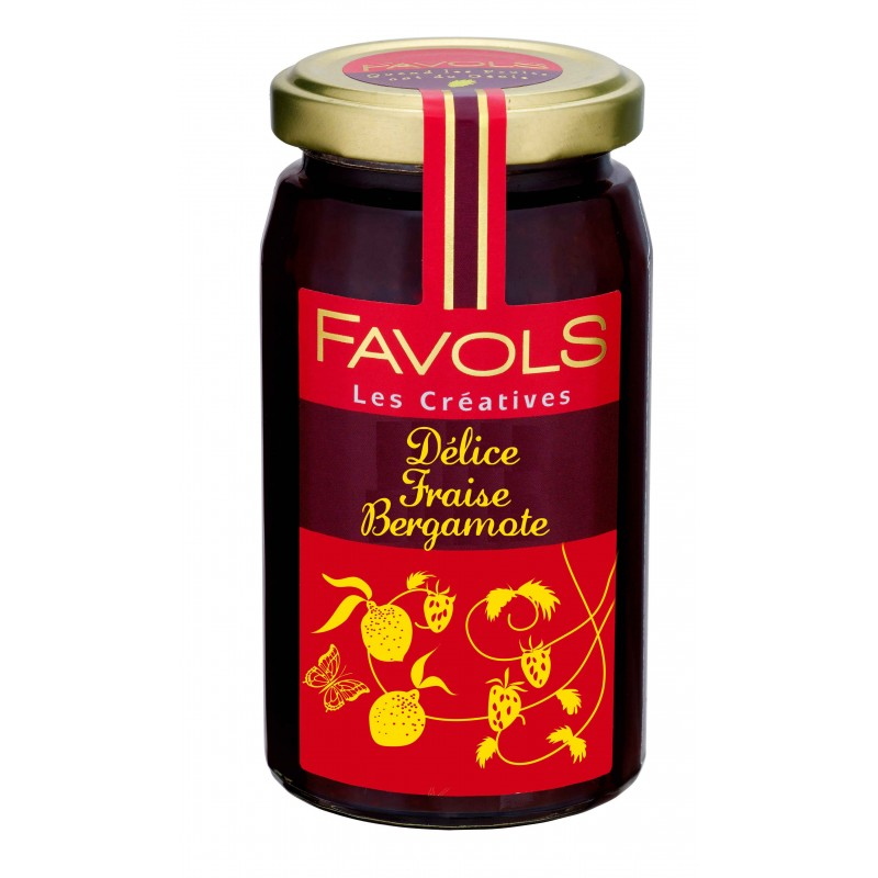 Confiture fraise bergamote Favols (270 g)