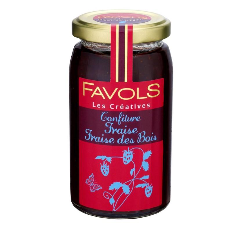 Confiture de fraise et fraise des bois, Favols (270 g)