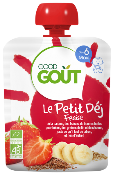 Le Petit Déj' Fraise, Good Goût (70 g) - dès 6 mois